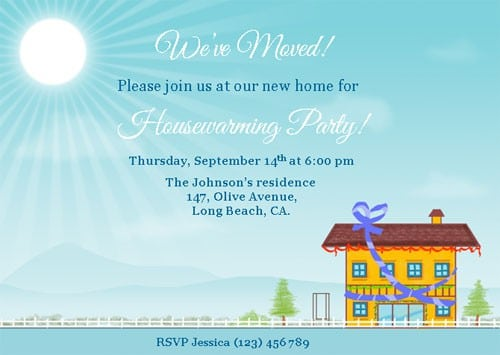 Housewarming Party Invitations Template Free 4
