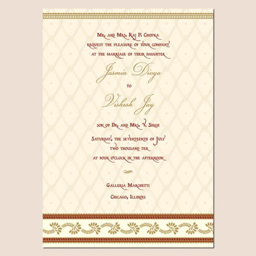 Indian Marriage Invitation Templates 2