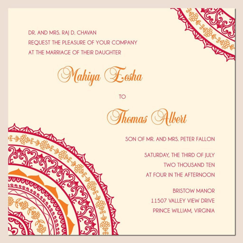 Indian Marriage Invitation Templates 3