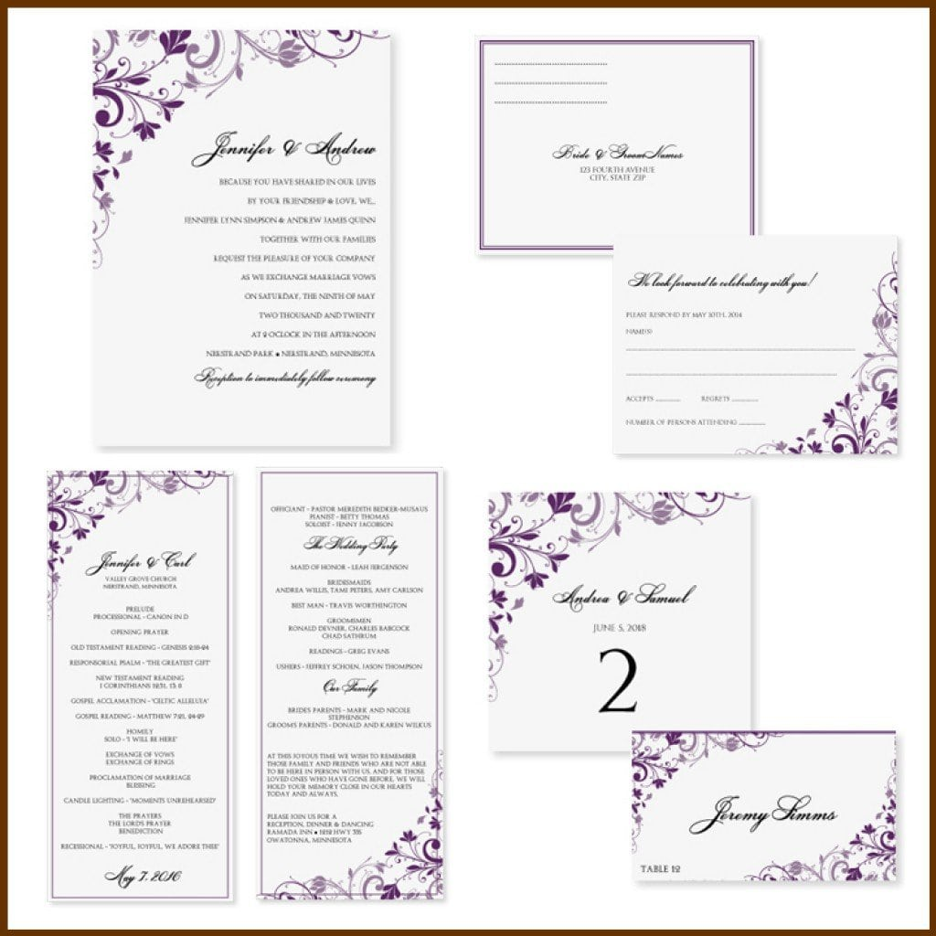 Indian Marriage Invitation Templates 4