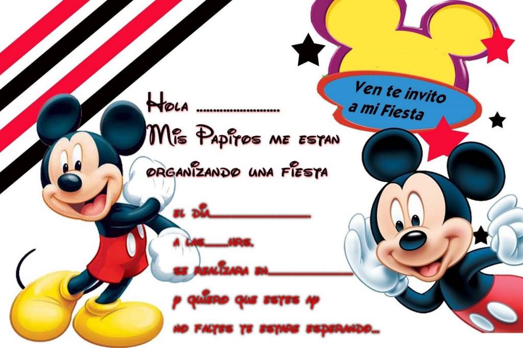Invitaciones Mickey Mouse Para Cumpleanos
