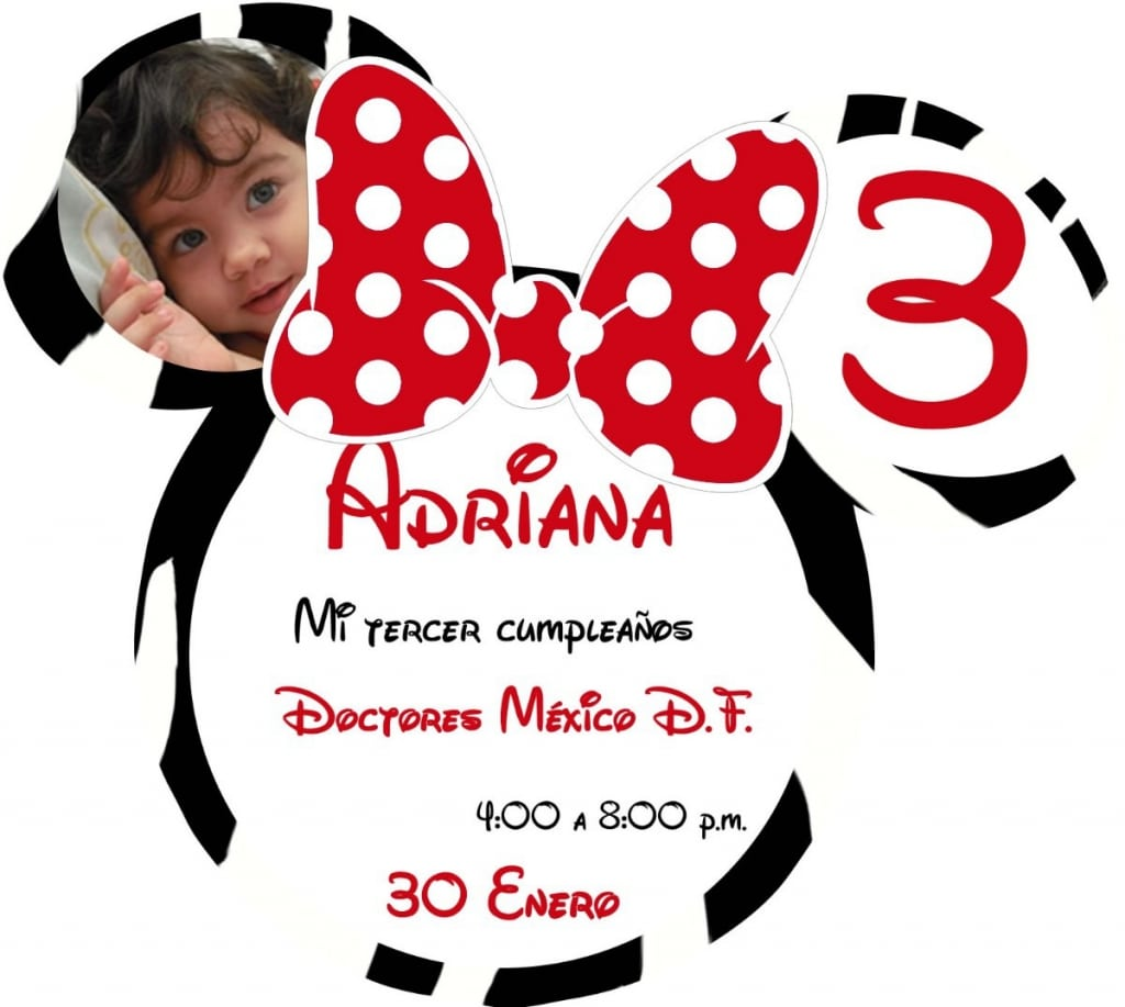 Invitaciones Mickey Mouse Pinterest