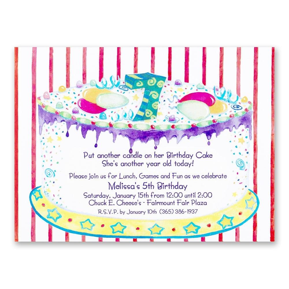 Invitation 7th Birthday Party