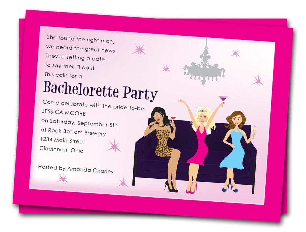 Invitation Bachelorette Party Wording