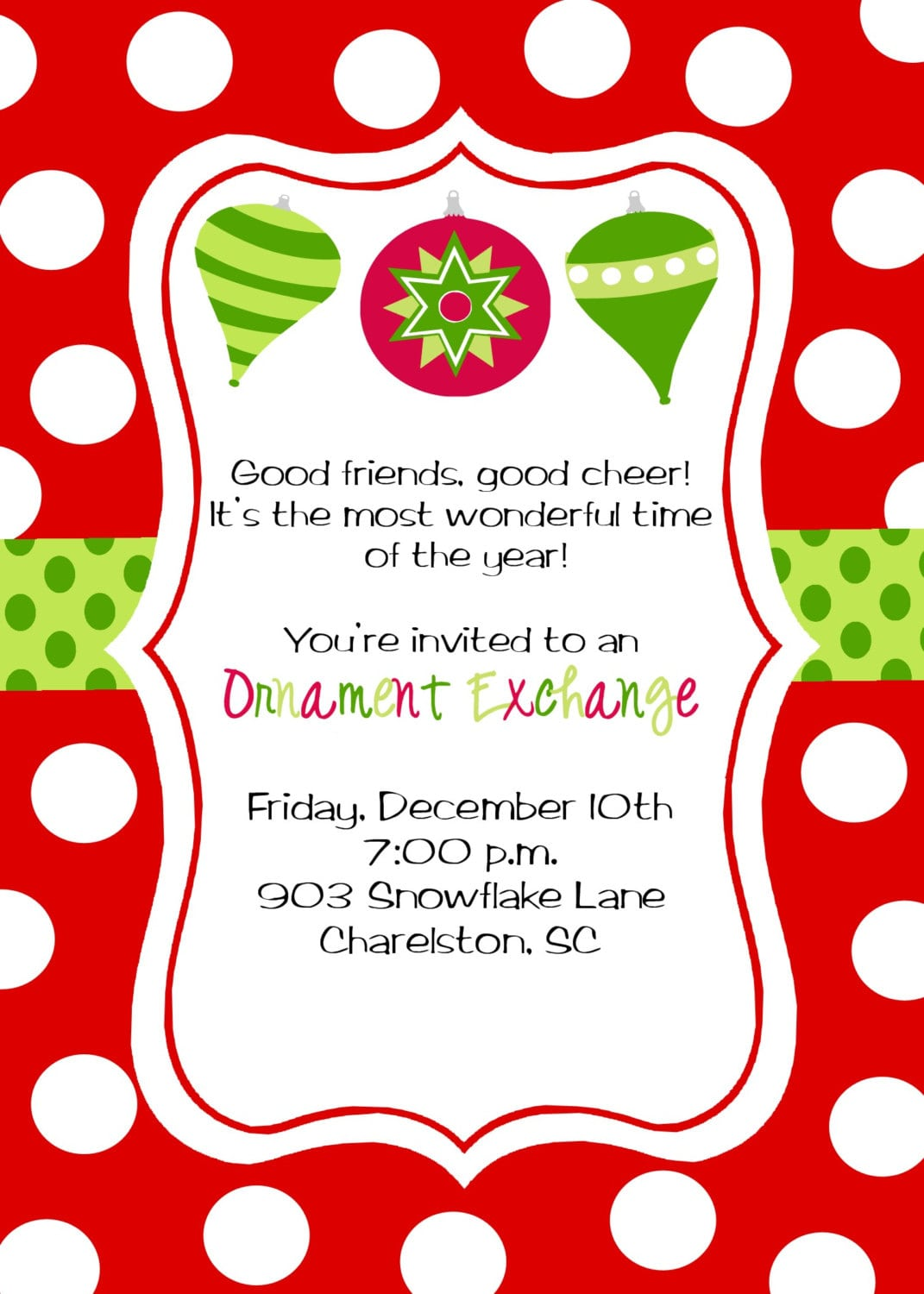 Ornament party invitations - Ornament Party Invitations 30
