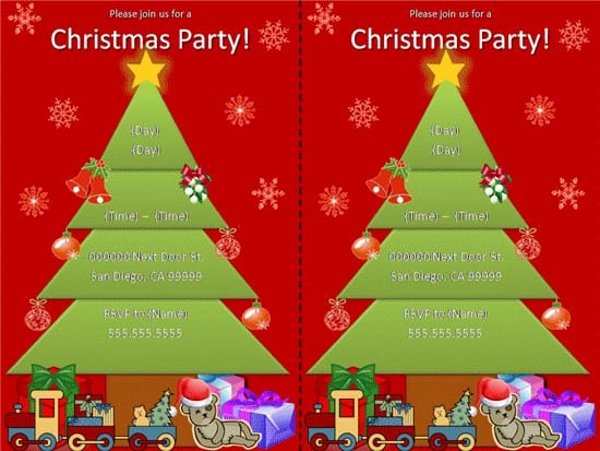 Invitation Christmas Template Free 3