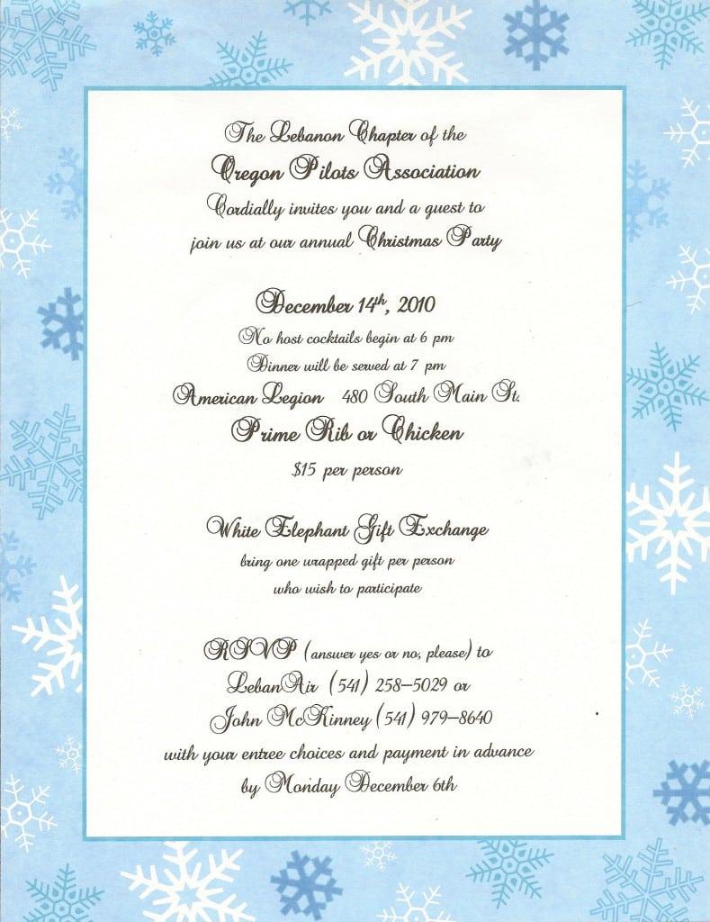 Invitation Christmas Template Free 5