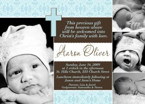 Invitation For Baby Christening 3