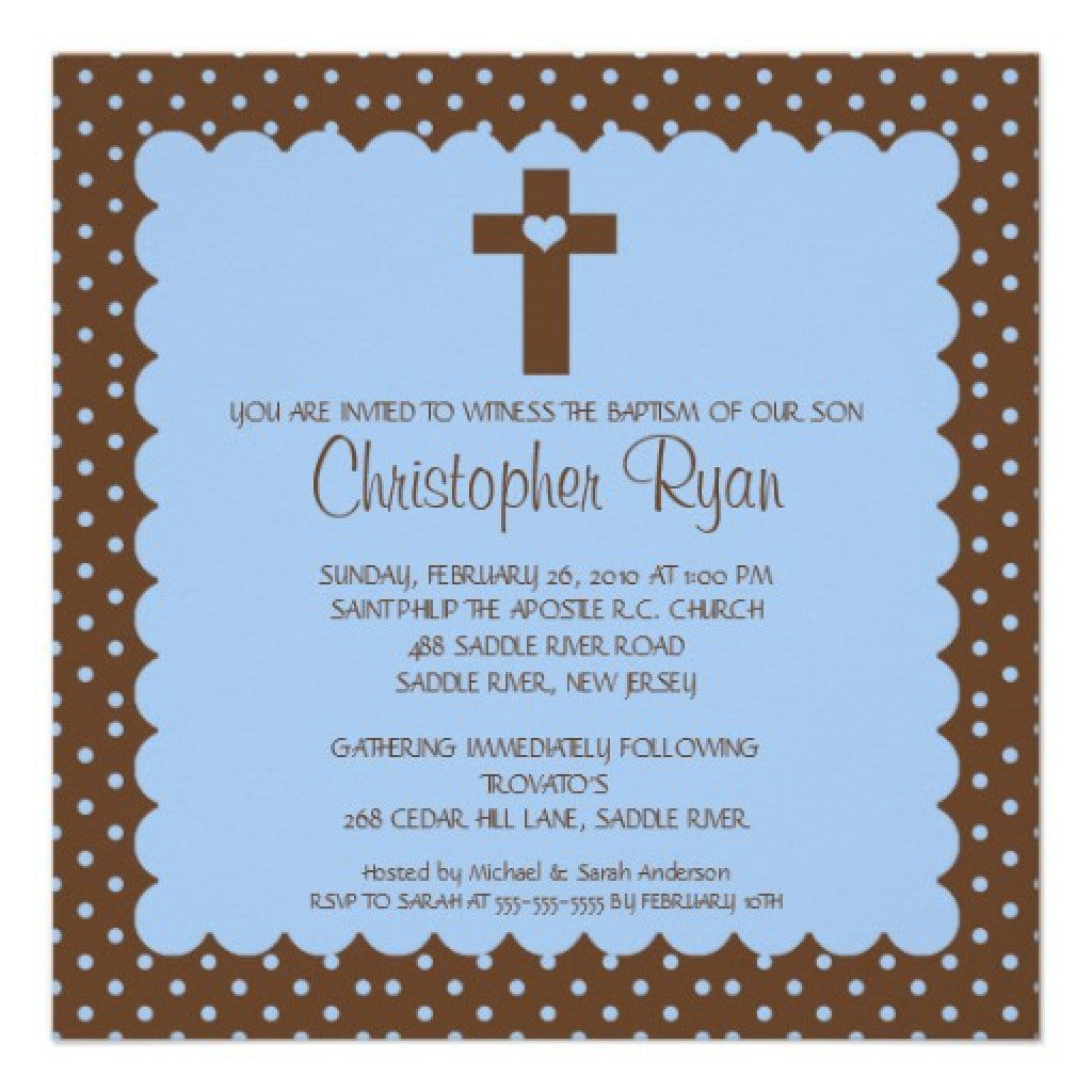Invitation For Baby Christening 4