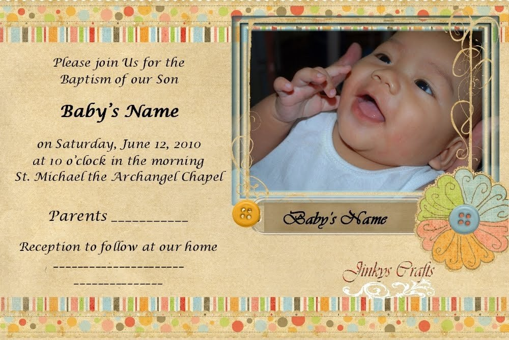 Invitation For Baby Christening
