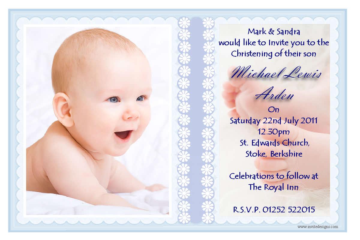 Invitation For Christening Baptism