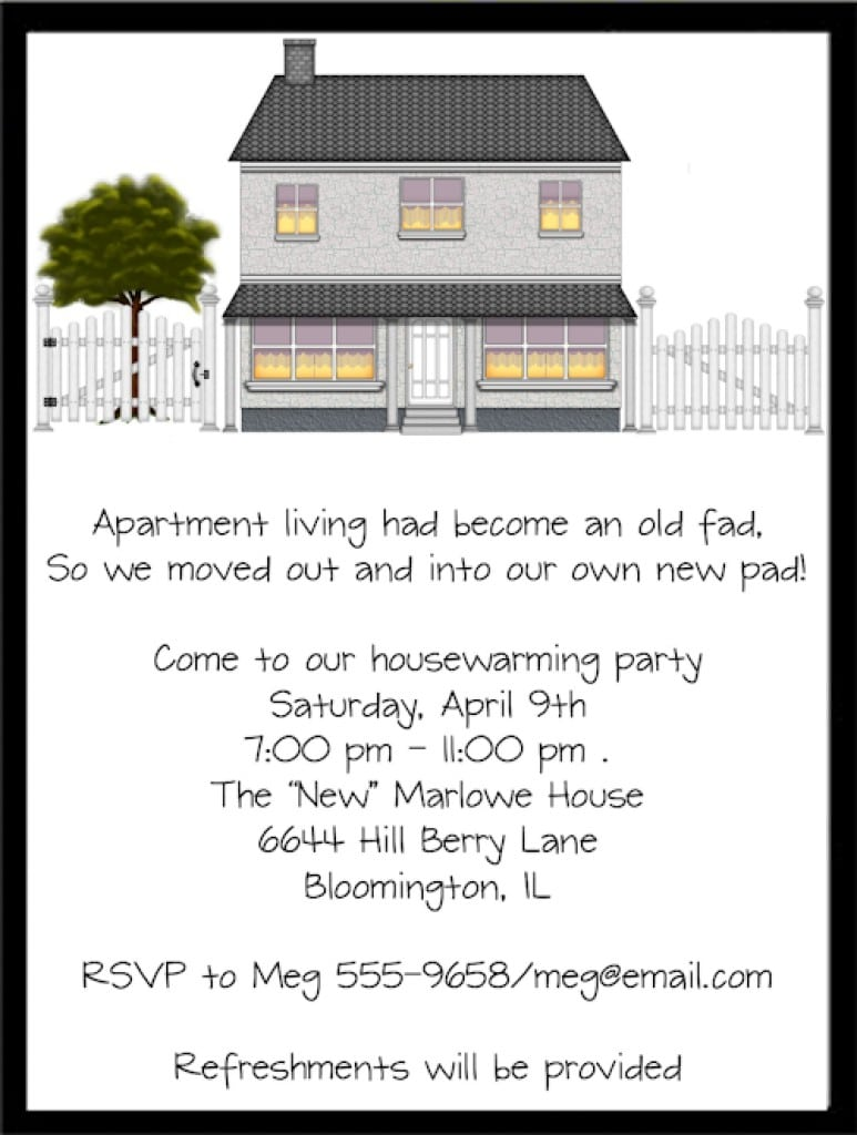 Invitation For Housewarming Party 5