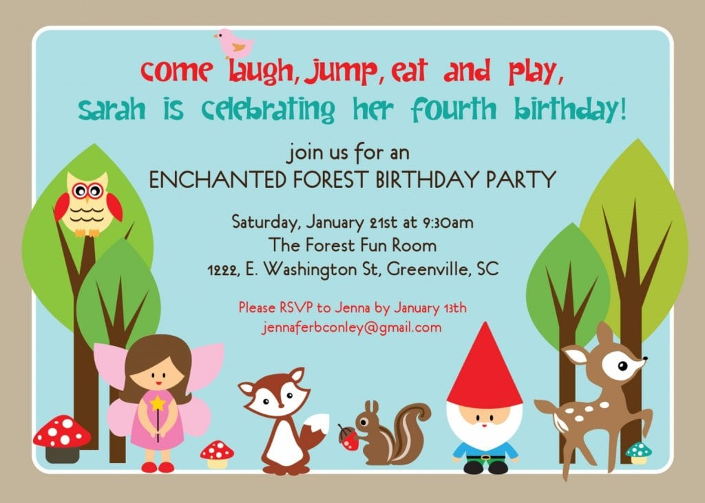 Invitation Format For Birthday Party
