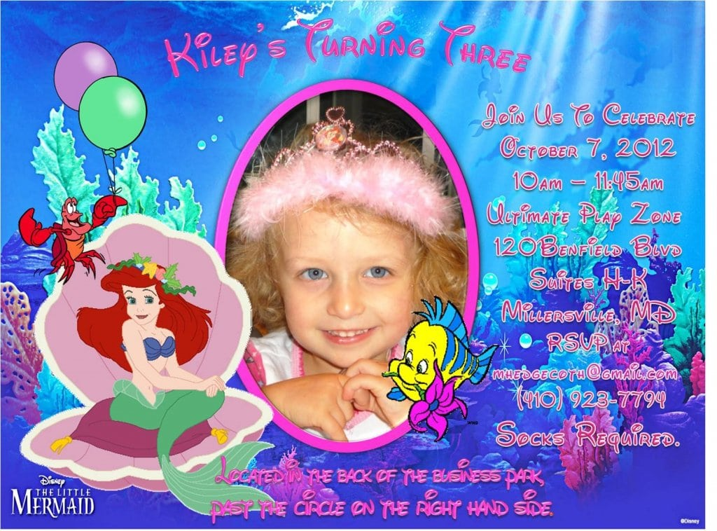 Invitation Little Mermaid Ii