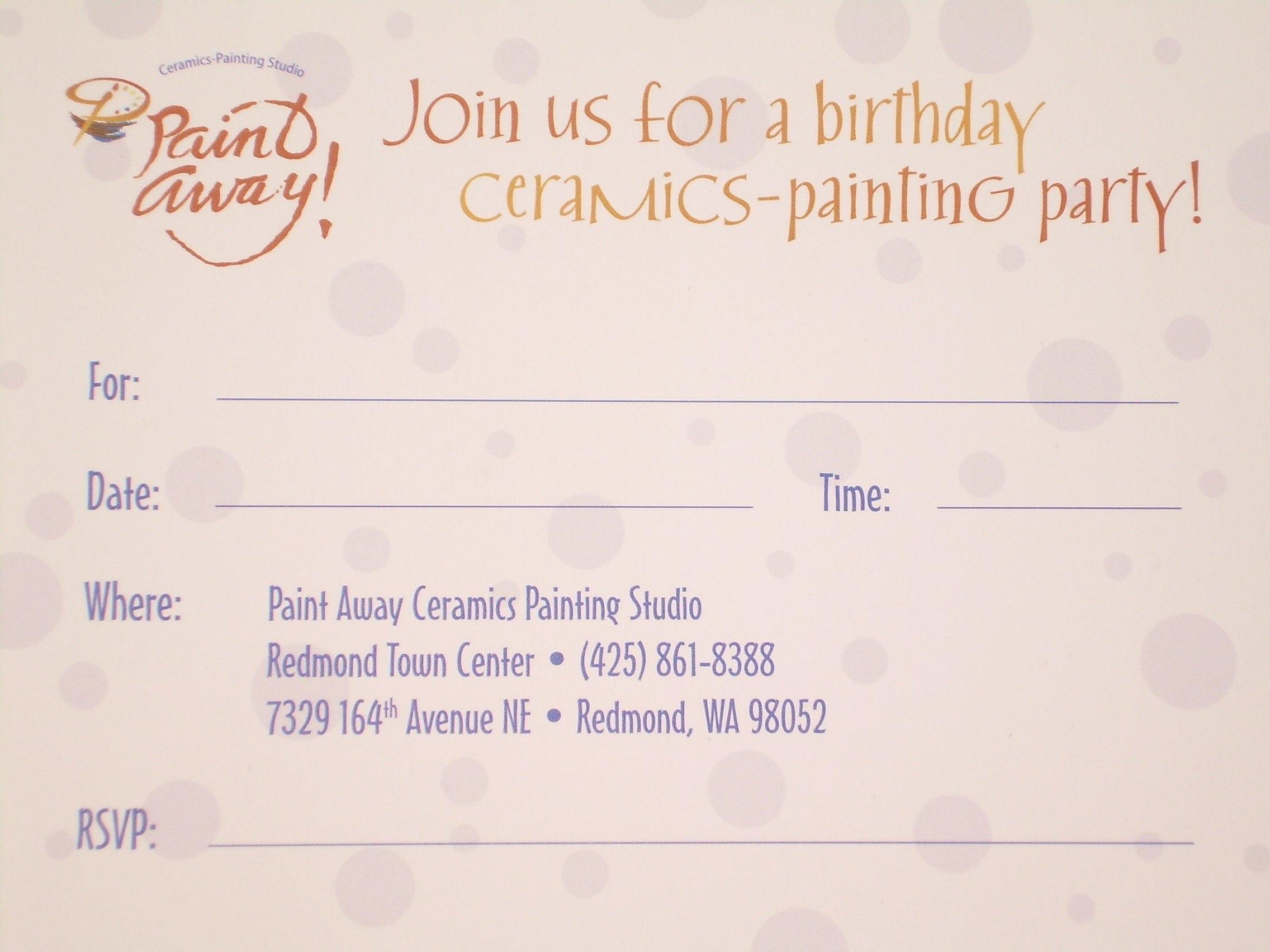 Invitation Sample For Birthday Kids 2