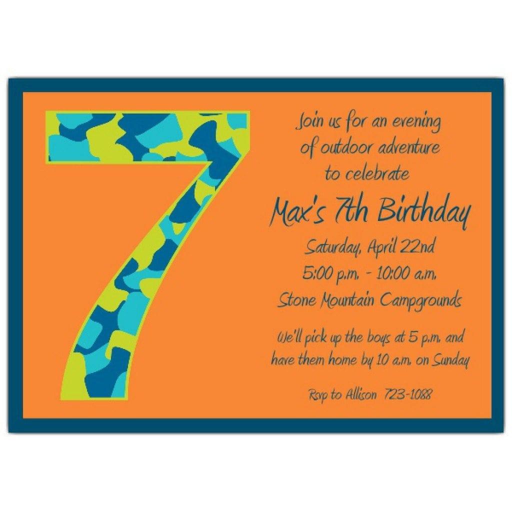 Invitation Sample For Birthday Kids 4