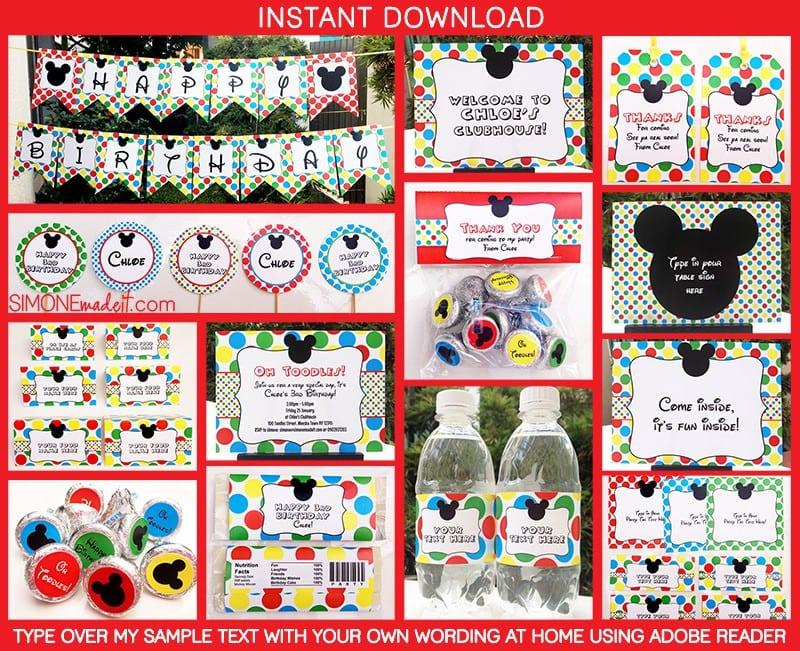 Invitation Sample Mickey Mouse 3