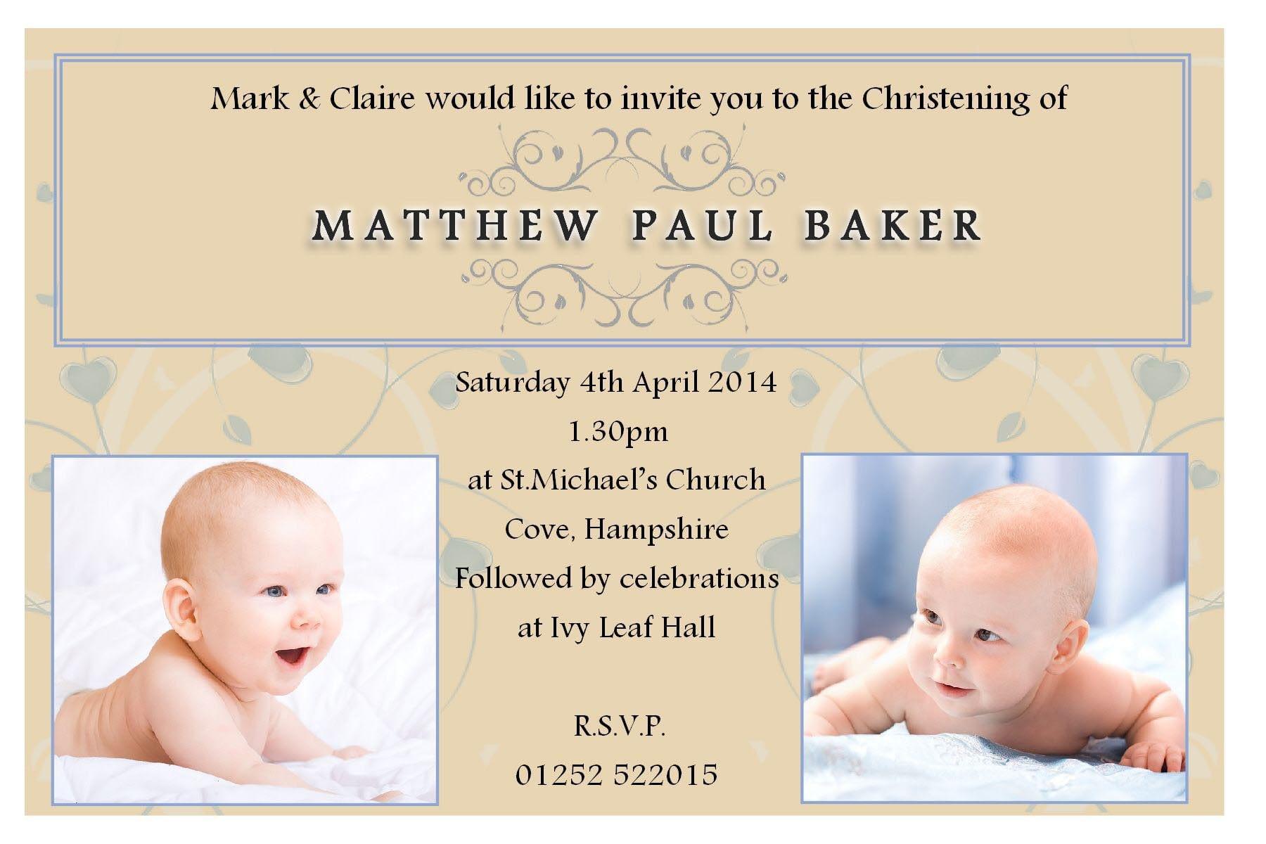 Invitation Samples For Baptism 3
