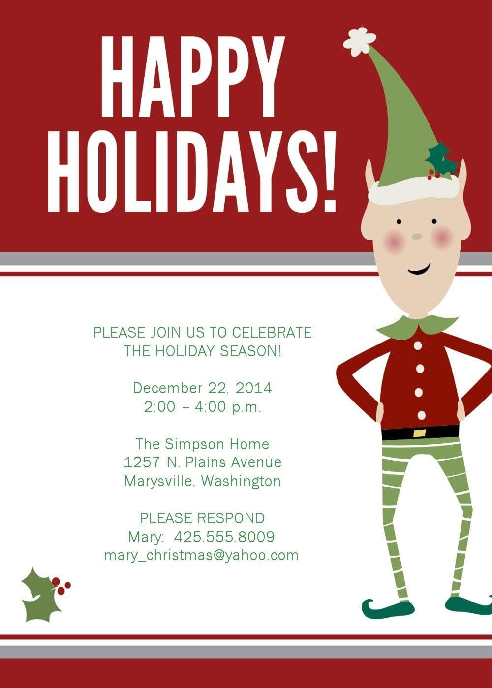 Invitation Template Christmas