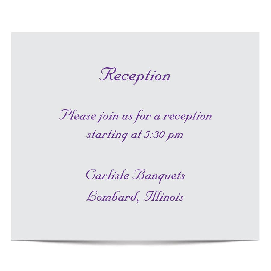 Invitation Template For Wedding Reception
