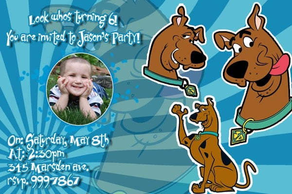 Invitation Template Scooby Doo 5