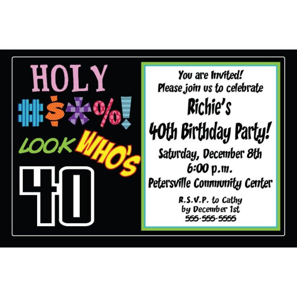 Invitation Templates 40th Birthday Party 2