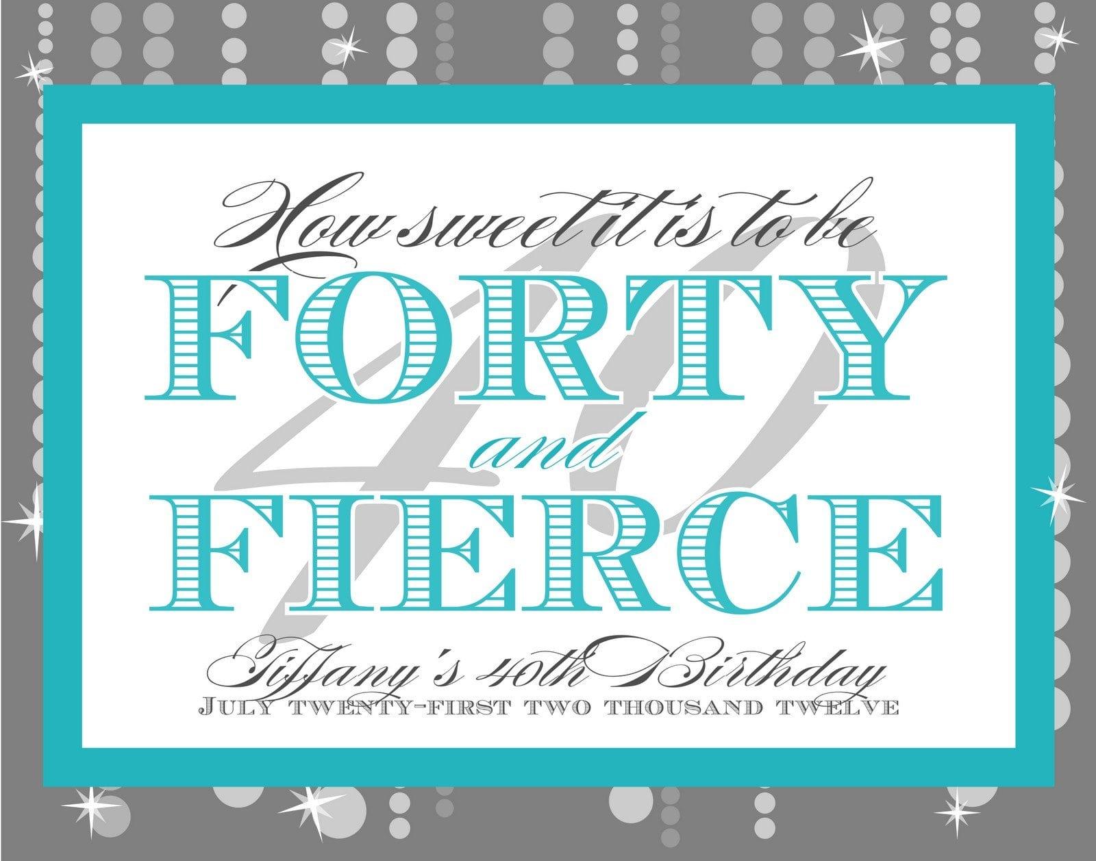 Invitation Templates 40th Birthday Party 3