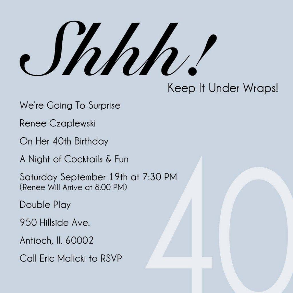 Invitation Templates 40th Birthday Party 5