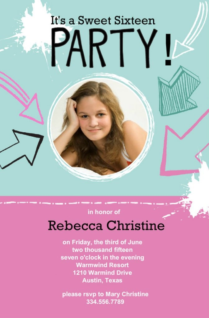 Invitation Templates For Sweet 16 Party 2