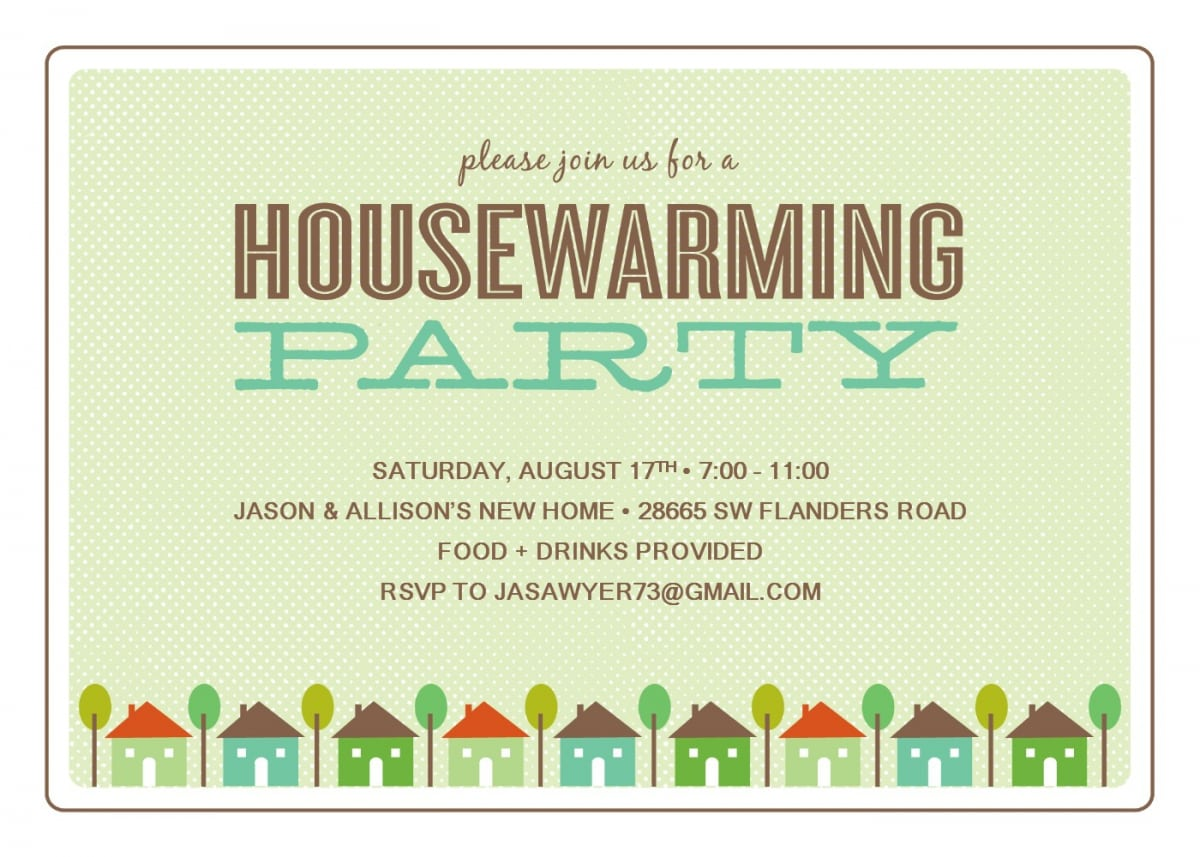 Invitation Templates Housewarming Party