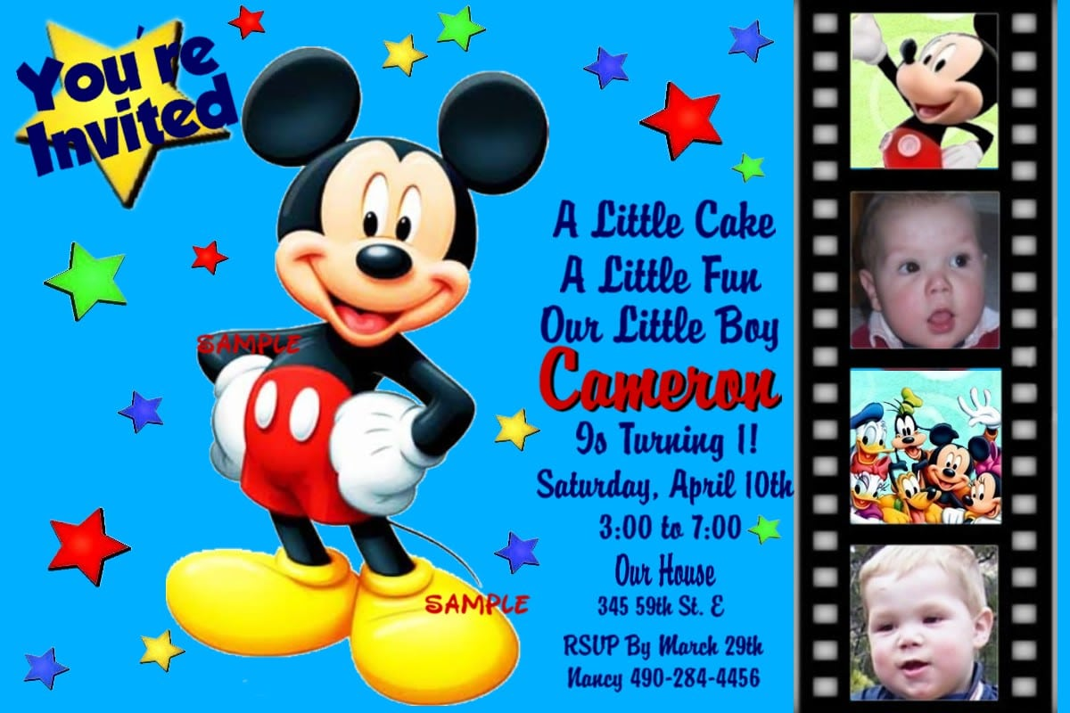 Invitation Wording Mickey Mouse Birthday