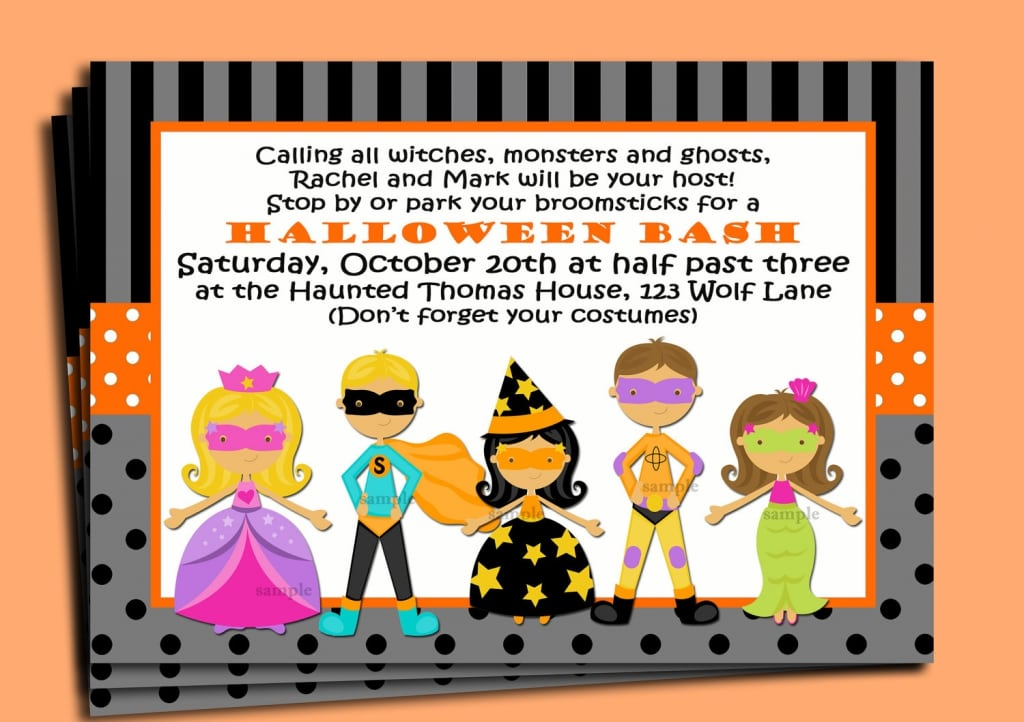 Invitations Halloween Kids