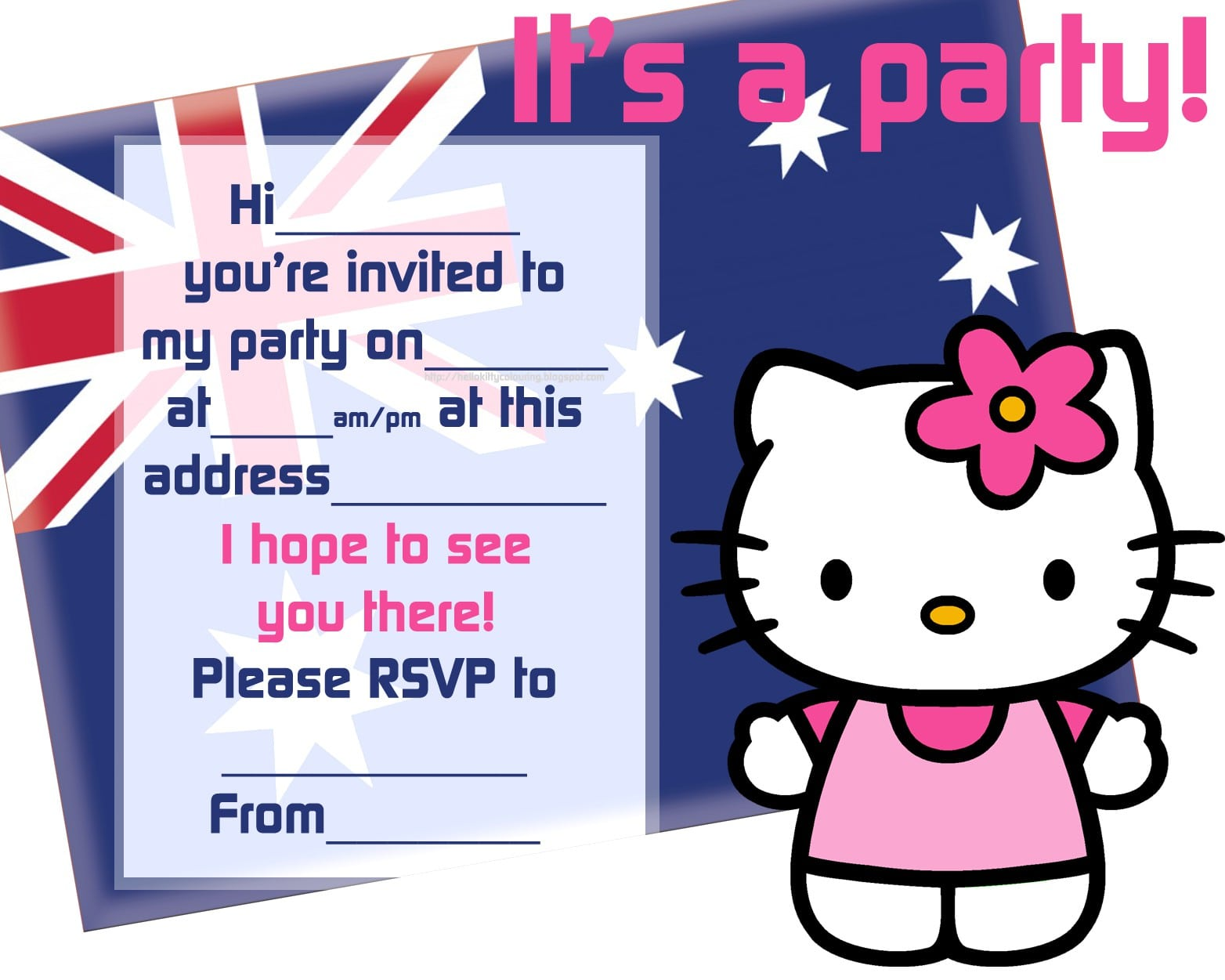 Invitations Hello Kitty 3