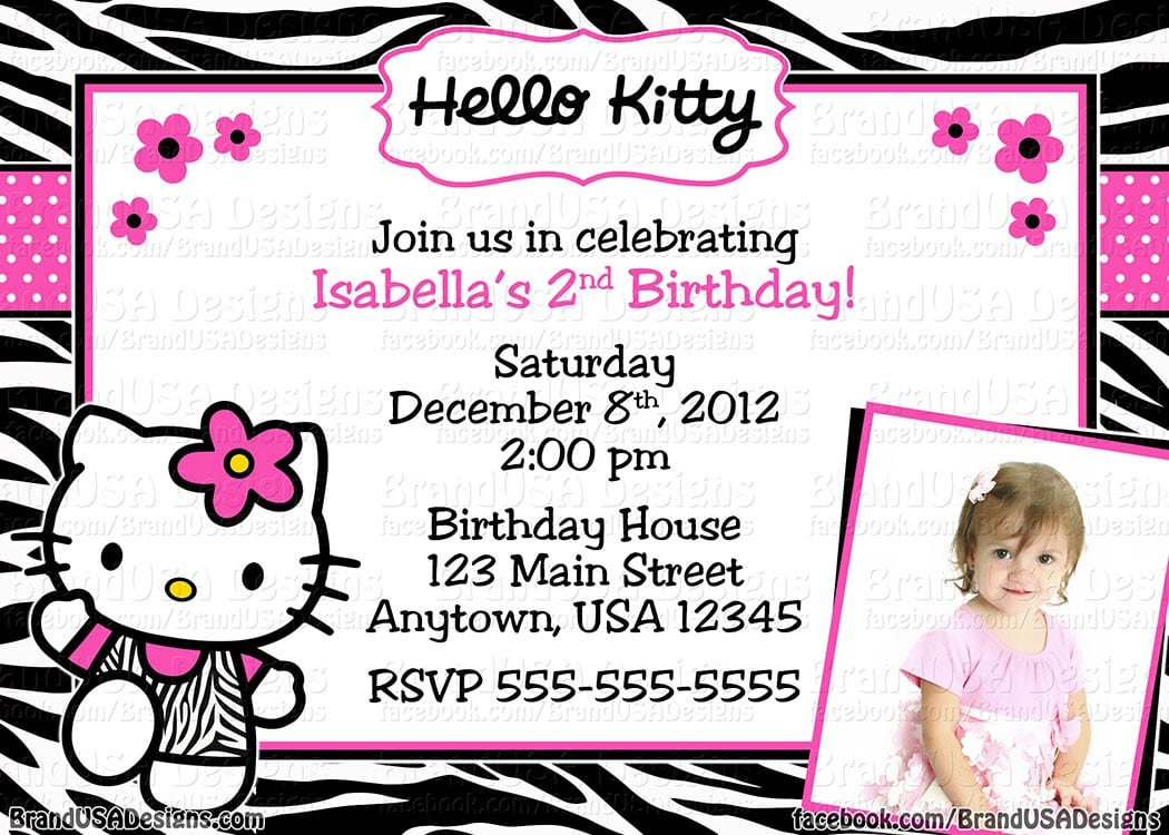 Invitations Hello Kitty 5