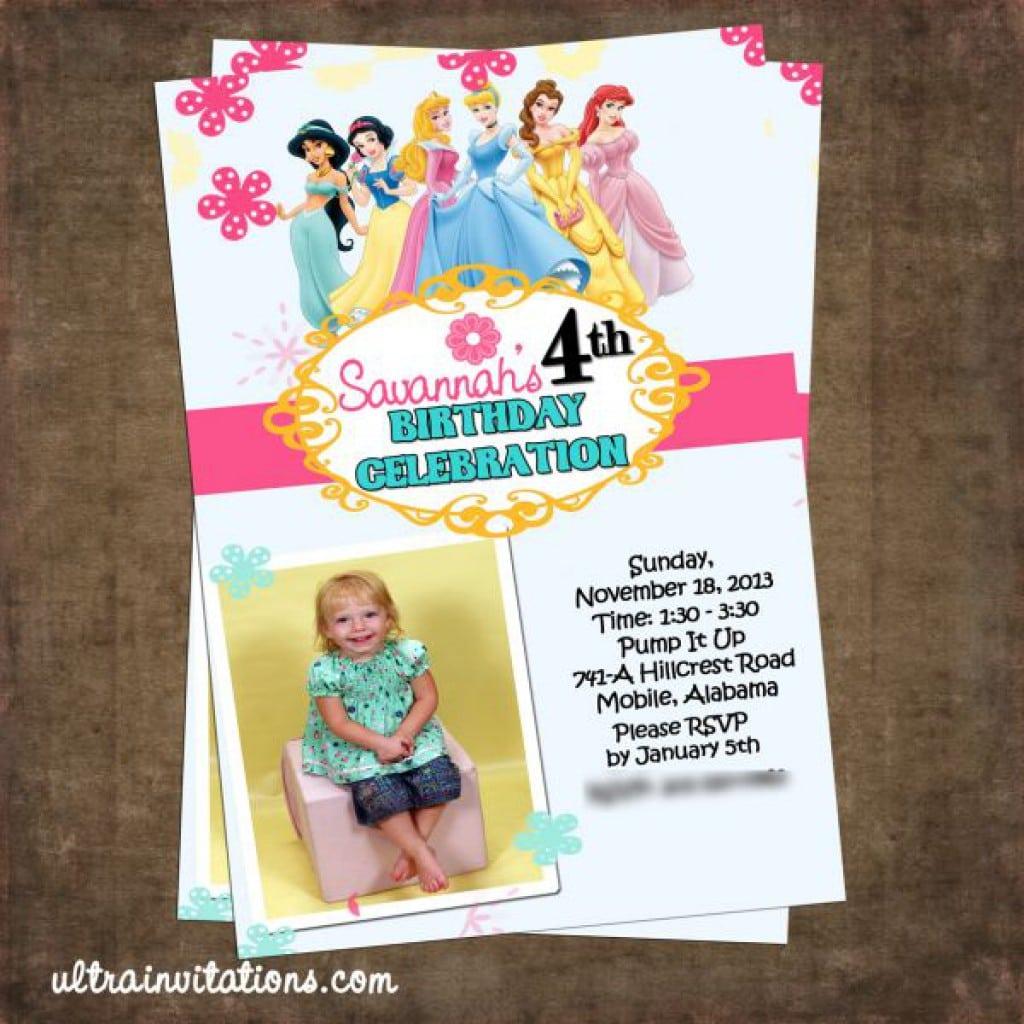 Invitations Princesses Disney 2