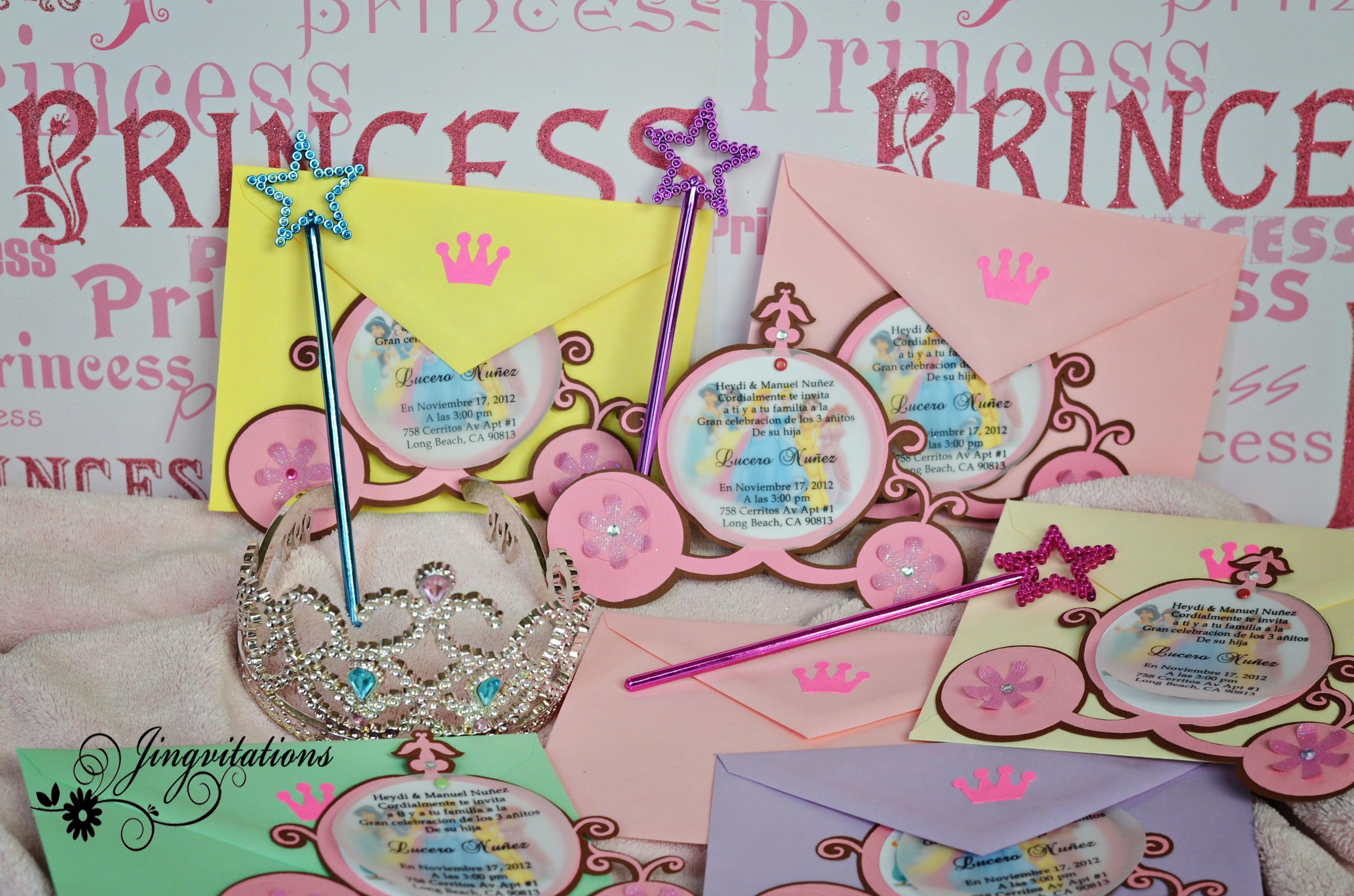 Invitations Princesses Disney 3