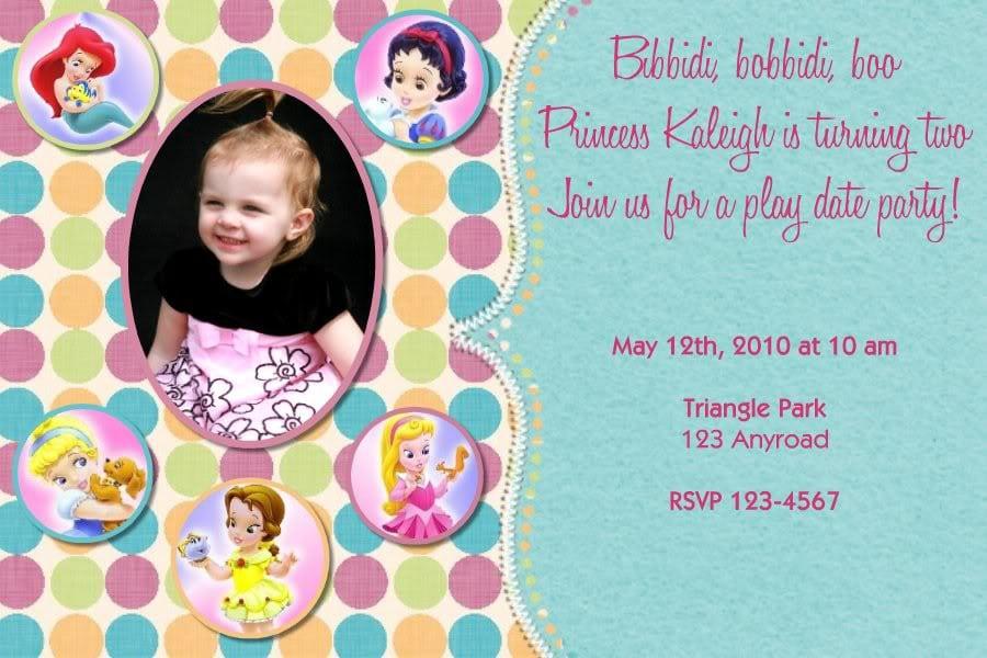 Invitations Princesses Disney 5