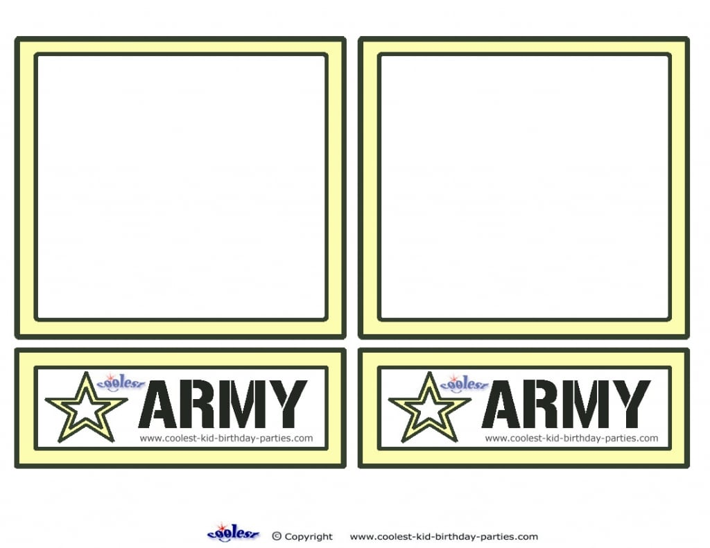 Kids Army Birthday Invitations Free Templates