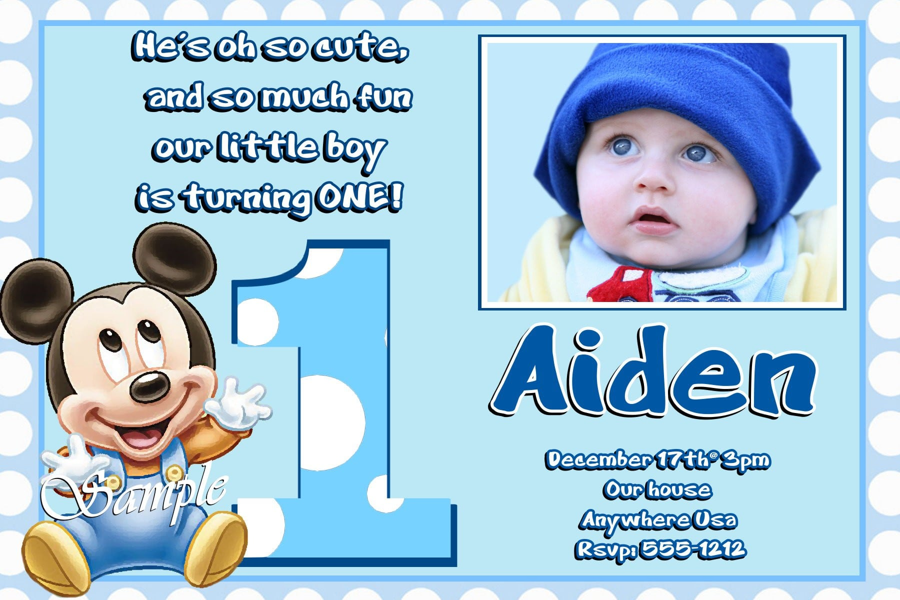 Kids Birthday Invitation Sample 2