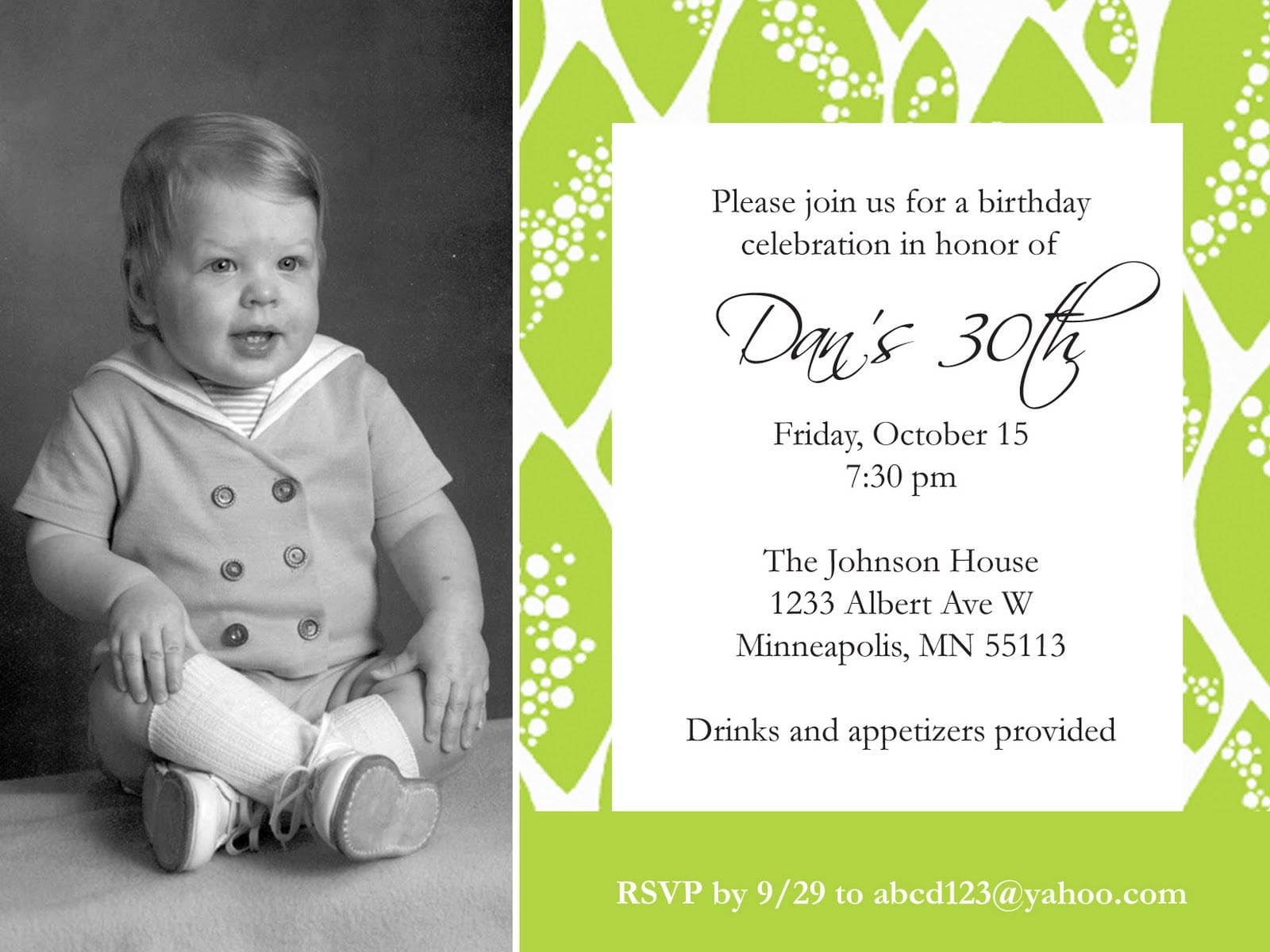 Kids Birthday Invitation Sample