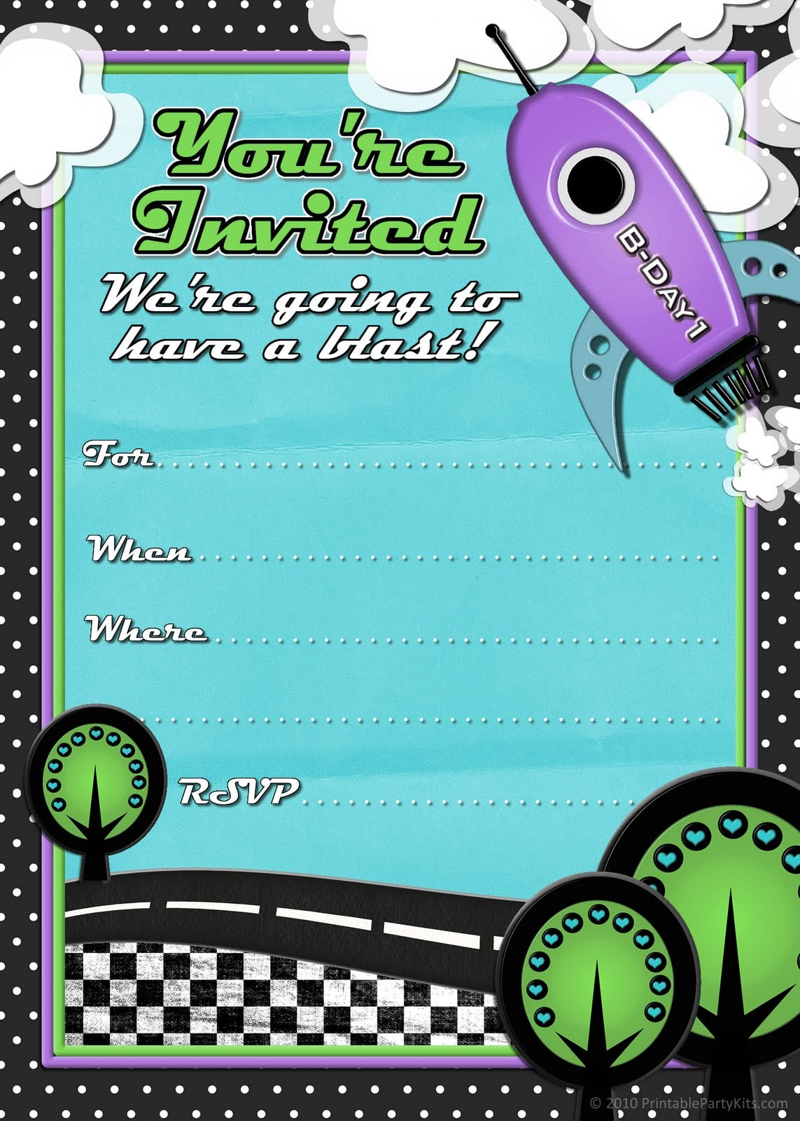 Kids Birthday Party Invitations To Print