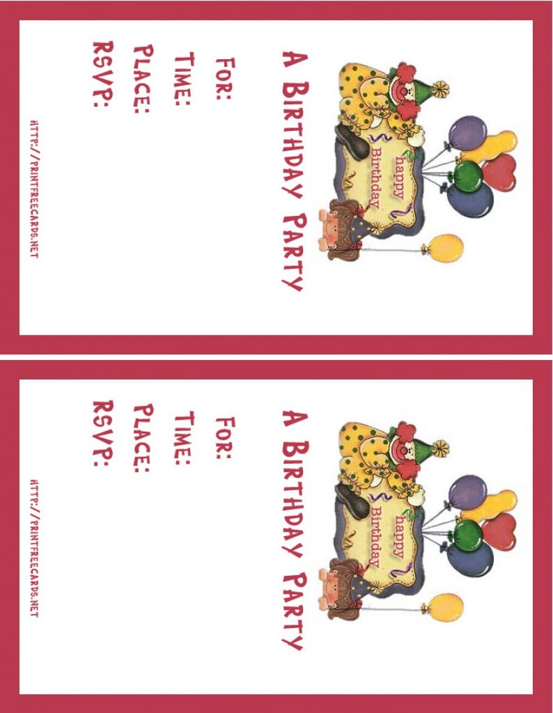Kids Invitations For Birthday Party Printable 5