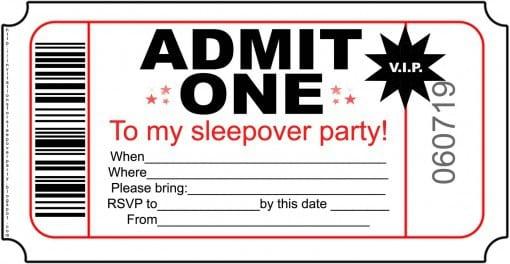 Kids Sleepover Invitations Free Printable 2