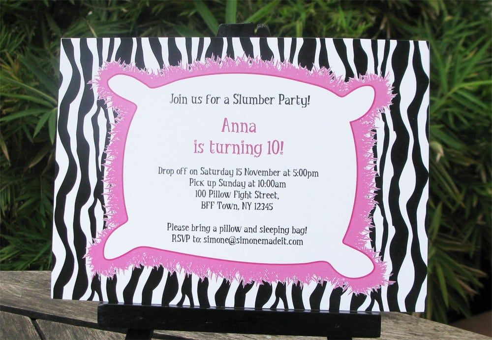 Kids Sleepover Invitations Free Printable 3