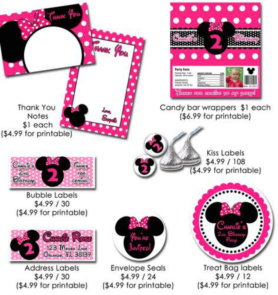 Layout For Minnie Mouse Invitation 2