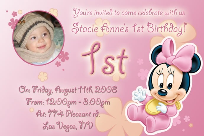 Layout For Minnie Mouse Invitation 3