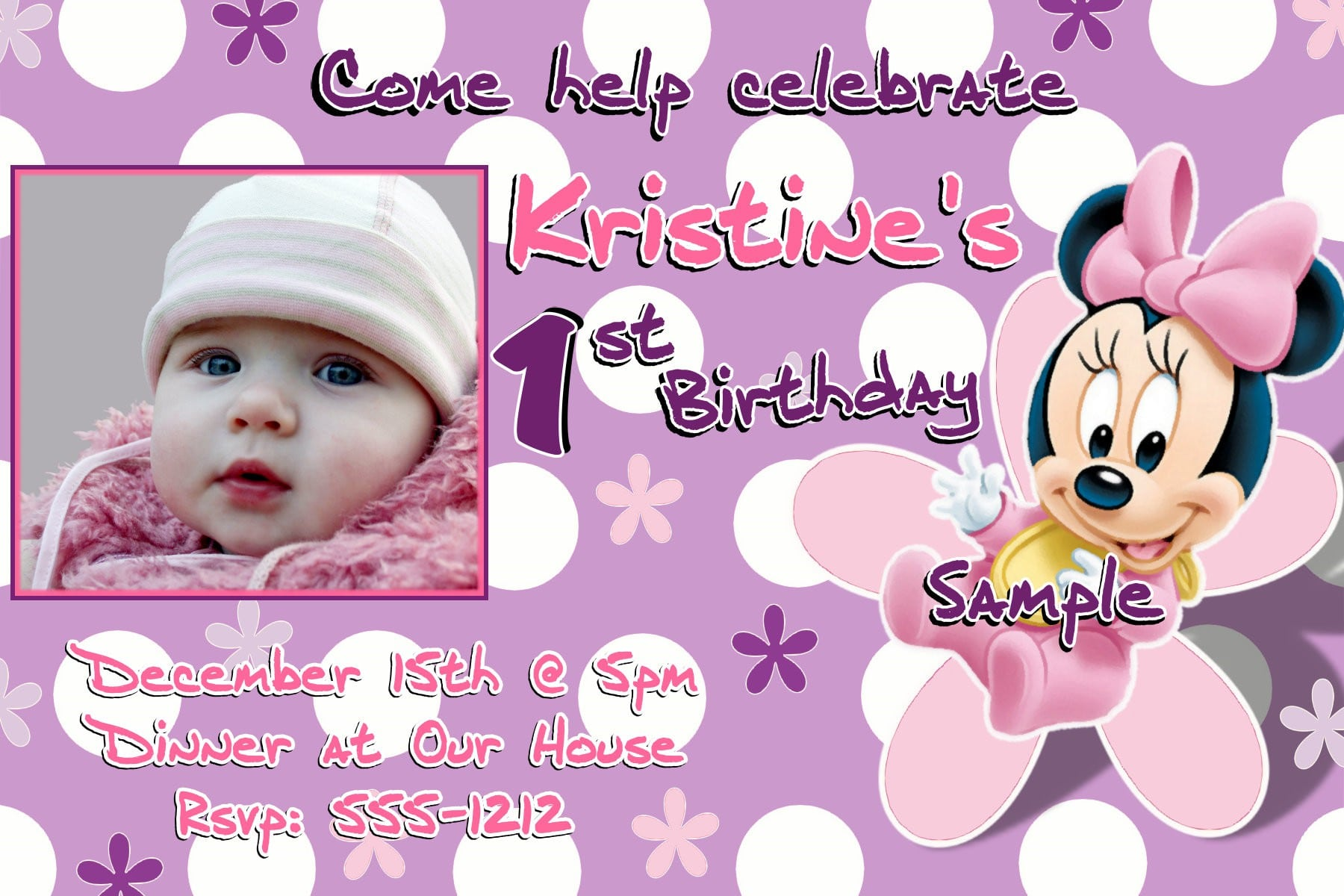 Layout For Minnie Mouse Invitation 4