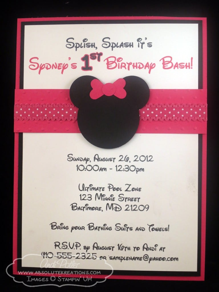Layout For Minnie Mouse Invitation