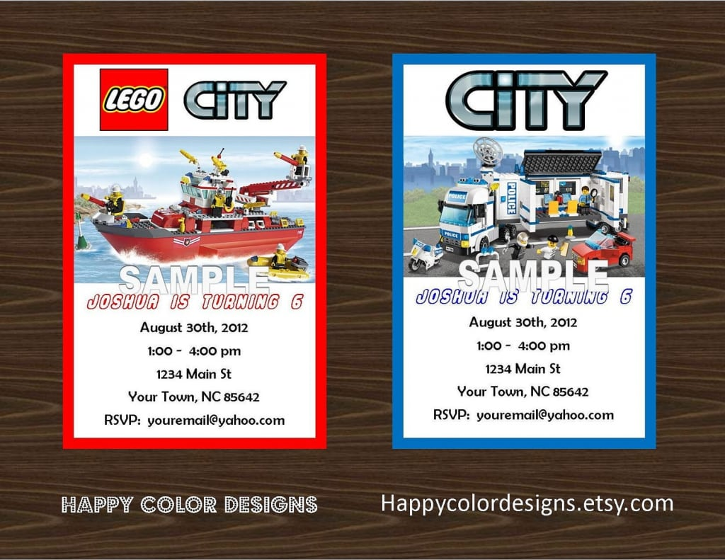 Lego Birthday Invitation Free Printable