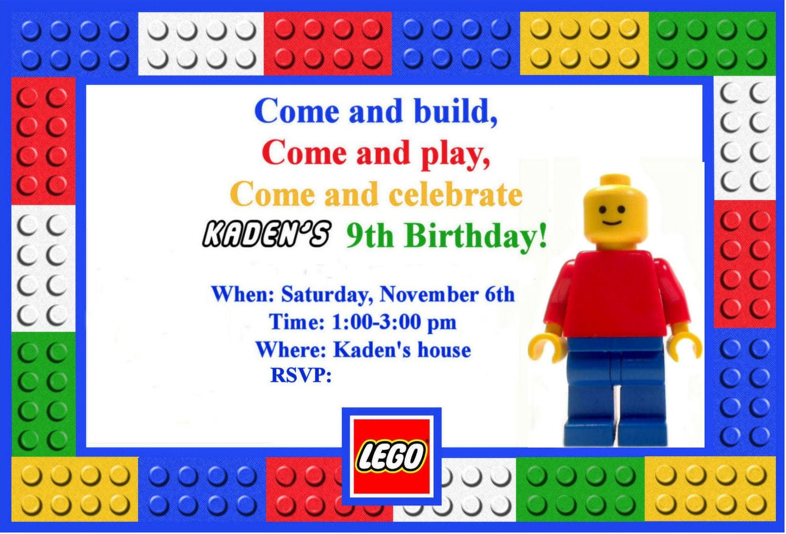 lego invitations party